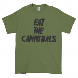T-shirt Eat the Cannibals Olive