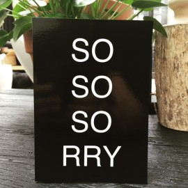 """Sorry"" card xl"