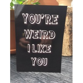 "Card ""Weird"" XL"