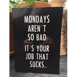 "Card ""Mondays"" XL"