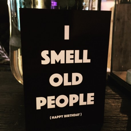 "Card ""I Smell birthday"" XL"