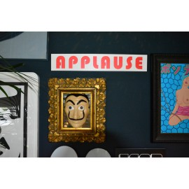 """Applause"" wall art sign 70x13cm"