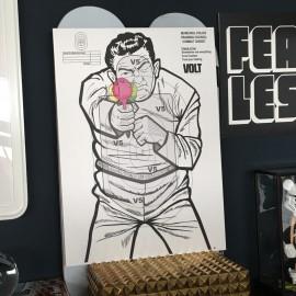 """""""Friendly shooter"""" wall art sign 43x63cm"""