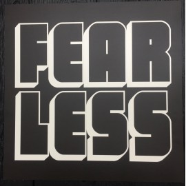 """Fearless"" wall art sign xl 60x60cm"