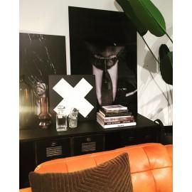 """Big X"" wall art sign 50x50cm"