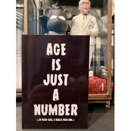 """Age is just a number"" card XL"